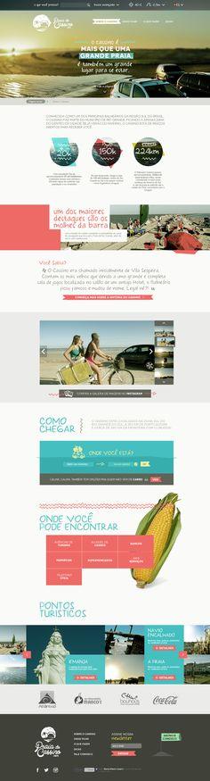 Praia do Cassino.com - Designer - Vinícius Costa | #flat #colorful #webdesign