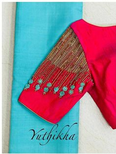 Hand Work Blouse Design, Simple Blouse Designs, Stylish Blouse Design, Fancy Blouse Designs, Simple Embroidery Designs, Blouse Designs Embroidery, Indian Embroidery, Wedding Saree Blouse Designs, Designer Blouse Patterns