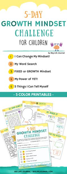 5-Day Growth Mindset Challenge for Children – Big Life Journal