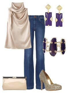 Zapatos con Glitter by outfits-de-moda2 on Polyvore featuring moda, Lanvin, M.i.h Jeans, Carvela, Dune, Talullah Tu and Kendra Scott