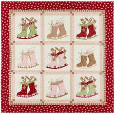 I've designed so many Christmas quilts over the years, my house isfilled with them. Not all at once of course. Many remain folded on the shelves, waiting for achance to be shared.  From m…