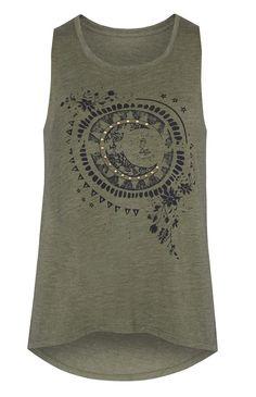 Primark - Camiseta sin mangas color caqui