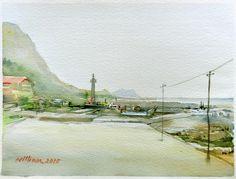 新北市瑞芳區南雅漁港 Saunders CP Rough 300g 37 x 28 cm 8K 水彩寫生