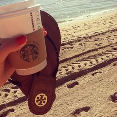 #Sorority #Summer #Dream ... Starbucks, Tory Burch, and the beach :)