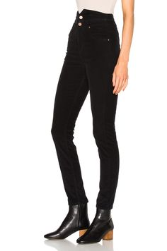 Image 2 of Isabel Marant Etoile Farley High Waisted Jeans in Black