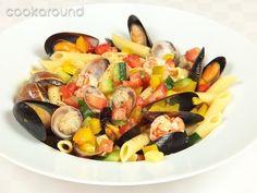 Insalata di pasta e mare Cannoli, Recipe Of The Day, Salad Dressing, Pasta Dishes, Fruit Salad, Cantaloupe, Seafood, Salads, Food And Drink