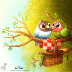 Daily Painting Fish Kebabs by Cryptid-Creations on DeviantArt Cute Food Drawings, Cute Animal Drawings, Saint Yves, Animal Puns, Cute Birds, Cute Creatures, Cute Illustration, Cute Art, Cute Pictures