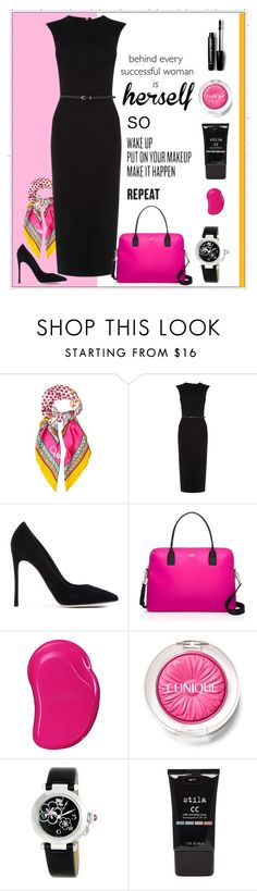 """""""Herself"""" by patricia-dimmick ❤ liked on Polyvore featuring Diane Von Furstenberg, Oasis, Gianvito Rossi, Kate Spade, Topshop, Clinique, Cartier, Stila, Forever 21 and Greta Constantine"""