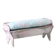 Handmade Dollhouse Furniture - Pink Bench #rachelashwell