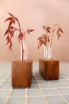Locally Salvaged Red Elm Bud Vases Eco by TheDesignPallet on Etsy