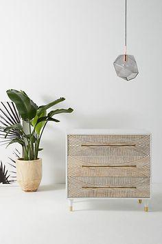 Anthropologie Carved Thalia Three-Drawer Dresser