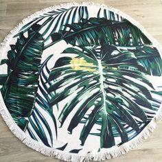 Serviette ronde Palmier Noholita