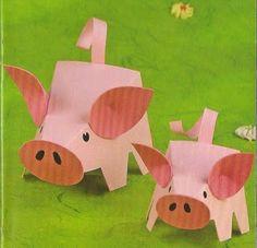 varkens maken van papier