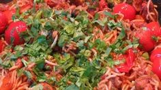 Ana's food -  Brilliant Left over Pasta Recipe with Tomatoes and Broccoli with a Twist