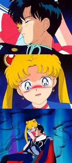 Darien dies in Sailor Moon's arms