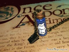 Once Upon a Time Magical Necklace with a Storybook by FandomMagic
