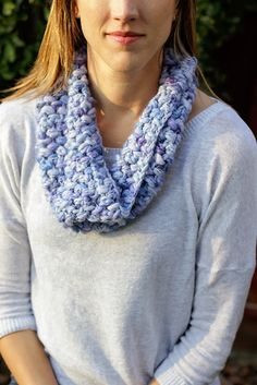 Cozy Puff Stitch Cowl Crochet Pattern