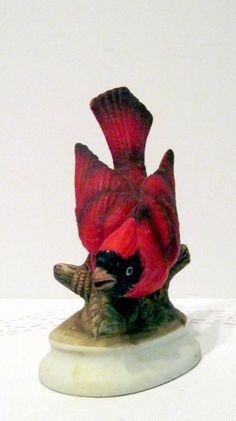 Vintage Japan Lefton Porcelain Cardinal Bird Sculpture Figurine red http://www.ebay.com/itm/261749084169?ssPageName=STRK:MESELX:IT&_trksid=p3984.m1558.l2649