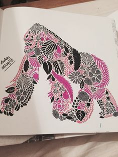 from Millie Marotta's Animal Kingdom Colouring Book