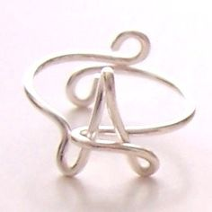 Ring  Wire Name Ring  Wire Initial Ring  Wire Word by wiremajigs, $8.00