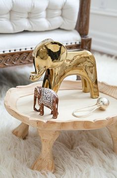 Spotted! Our elephant gold object in renowned stylist Christine Dovey's home
