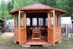 Wooden Summer House, Gazebo, Shed, Outdoor Structures, Maps, Board, Google, Kiosk, Blue Prints