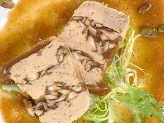 Rabbit and Shiitake Mushroom Terrine with a Caramelized Onion Sauce