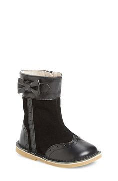 Free shipping and returns on Livie & Luca Whitney Boot (Baby, Walker, Toddler & Little Kid) at Nordstrom.com. A dainty bow at the topline balances the wingtip brogue styling of an utterly charming boot fashioned with an easy-on side zipper.