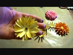 I followed the instructions from this video and was able to make beautiful daisy flowers. Julie Waters has a series of 'Flower Friday' on YouTube.