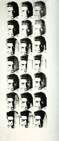 #AndyWarhol Elvis 21 Times, 1962  Silkscreen ink and pencil on linen, important Blue-Chip #AndyWarhol painting sold by Joseph K. Levene Fine Art, Ltd. | #JKLFA
