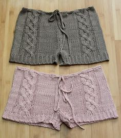 Cable Knit Shorts...hello spring break project.