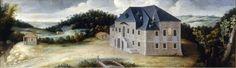 Casa Eraso (O tambien casa Casaras. 1571-1788) en el puerto de la Fuenfria, Segovia, Castilla y Leon, España. Oleo sobre lienzo (1639) by Giuseppe Leonardo y expuesto en el museo de El Escorial, Madrid.