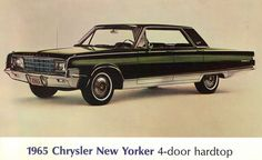 1965 Chrysler New Yorker 4-door Hardtop (I used to have one and a flawless copy of the postcard this picture is from)