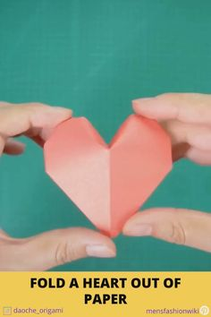 Forrest Gump Discover How to fold a heart out of paper Video on how to fold a heart out of paper step by step Diy Crafts Hacks, Diy Crafts For Gifts, Diy Home Crafts, Diy Arts And Crafts, Cool Paper Crafts, Paper Crafts Origami, Fabric Crafts, Wood Crafts, Instruções Origami