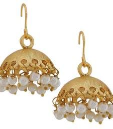 Buy Designer Indian Jewelry Fab Pearl Jhumki Earrings White Goldd jhumka online