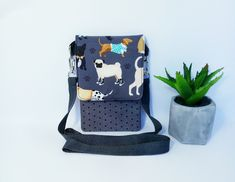 Small Crossbody Bag.Graduation gift veterinarian.Compact Carry Bag.Dog Print.Travel Bag .Small Pocket For Phone.with purse cell phone wallet High Holidays, Cell Phone Wallet, Beautiful Mask, Good Customer Service, Small Crossbody Bag, Travel Bag, Carry On, Diaper Bag, Purses