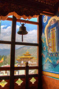 View from monastery, Bhutan.