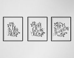 Printable Wall Art Inspirational Quote Set of by PrintableKittens