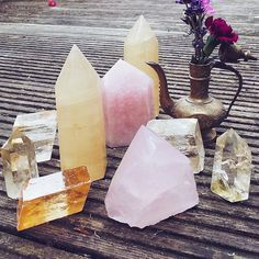 Crystal Points for your Altar // Crystal Fairy Vibes