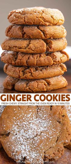 chewy cookies straight from the oven with a rich ginger taste for any occasion. Ready in 10 minutes.Fresh, chewy cookies straight from the oven with a rich ginger taste for any occasion. Ready in 10 minutes. Chewy Ginger Cookies, Oatmeal Cookies, Best Holiday Cookies, Food Shows, Dessert Recipes, Desserts, Recipes Dinner, Yummy Recipes, Biscuit Recipe