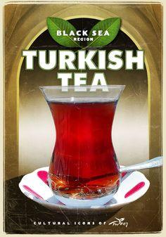 Türk Çayı, Cultural Icons of Turkey by turkiyeposterleri.com
