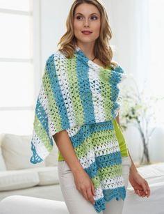 Triad Shawl - Free Crochet Pattern - (yarnspirations)