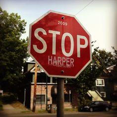 Commercial Drive STOP signs. hahaha! - photo by morgananana_