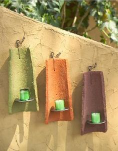 DIY Home :DIY Clay Tile Wall Sconces                                                                                                                                                                                 More