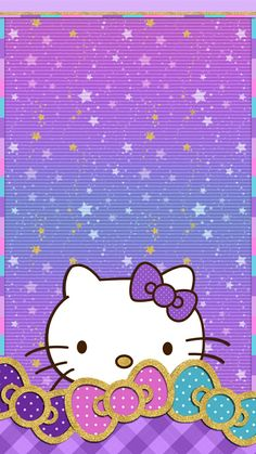 Wallpaper Iphone Purple Hello Kitty 45 Ideas For 2019 Hello Kitty Iphone Wallpaper, Hello Kitty Backgrounds, Cute Wallpaper Backgrounds, Wallpaper Iphone Cute, Pink Wallpaper, Cellphone Wallpaper, Mobile Wallpaper, Cute Wallpapers, Phone Backgrounds
