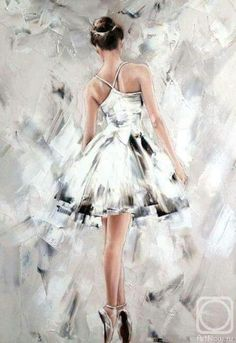 Buy Ballet a Oil on Canva Ballet Drawings, Dancing Drawings, Art Drawings, Ballerina Kunst, Ballerina Painting, Art Ballet, Arte Fashion, Dance Paintings, Dance Pictures