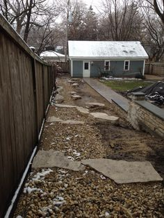 dry stream bed before plant material is added Lakeside Terrace, Stream Bed, Terrace Garden, Paths, Plant, Cabin, House Styles, Outdoor, Home Decor
