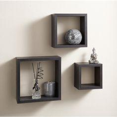 Floating Shelves Target Threshold™ Hexagon Wall Cube Set Of 3  Graywash  Pinterest  Cube