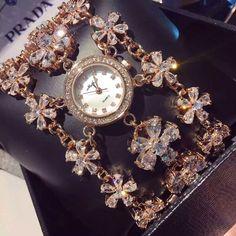 new female Austrian crystal luxury watch big large dial watches women watches women dress Watch reloj mujer