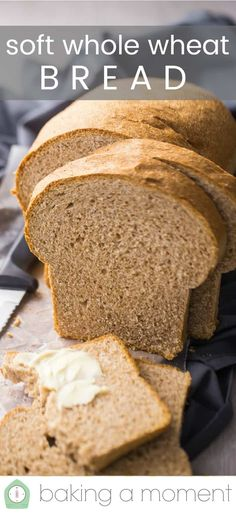 Good with white, wheat flour. Too dense for sandwiches and not much taste. Made 2 loaves with recipe and froze well. Bread Machine Wheat Bread Recipe, Wholemeal Bread Recipe, Soft Bread Recipe, Bread Maker Recipes, Healthy Bread Recipes, Sandwich Bread Recipes, Banana Bread Recipes, Baking Recipes, Bread Recipes